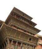 Hanuman Dhoka Durbar is gesitueerd in centraal Katmandu en Duitsland stock afbeeldingen