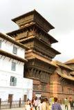 Hanuman Dhoka Durbar placeras i det centrala Katmanduet och gen Arkivbild