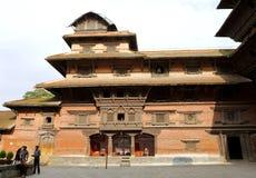 Hanuman Dhoka Durbar placeras i det centrala Katmanduet och gen Arkivbilder