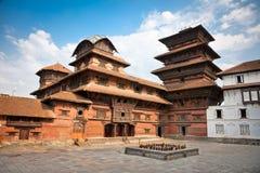 Hanuman Dhoka, oud Royal Palace, Durbar-Vierkant in Katmandu, Ne Royalty-vrije Stock Fotografie
