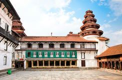 Hanuman Dhoka, place de Durbar à Katmandou, Népal. Images libres de droits
