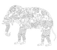 Hanuman Elephant Royalty Free Stock Image