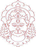 Hanuman the hindu ape (Monkey) god Stock Images
