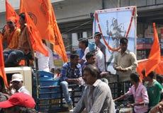 Hanuman Jayanthi-Shoba yatra fotografering för bildbyråer