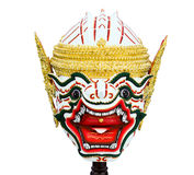 Hanuman mask in Khon Thai classical style Stock Photo