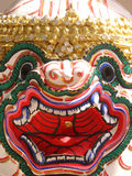 Hanuman mask from Thailand. Mask of the mythical monkey Hanuman, as used in dance performances in Thailand Royalty Free Stock Photography