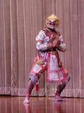 Hanuman in Maske Ramakien Khon Stockbild