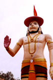 Hanuman the mighty in a blessing posture. Statue of Hanuman at Rishikesh,India. Hanuman the son of Vayuji,the god of wind, is the epitome of wisdom, devotion Royalty Free Stock Photo