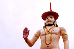 Hanuman the mighty in a blessing posture. Statue of Hanuman at Rishikesh,India. Hanuman the son of Vayuji,the god of wind, is the epitome of wisdom, devotion Stock Photography