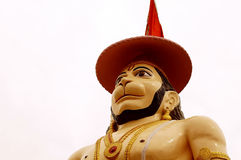 Hanuman the mighty in a blessing posture. Statue of Hanuman at Rishikesh,India. Hanuman the son of Vayuji,the god of wind, is the epitome of wisdom, devotion Stock Photos