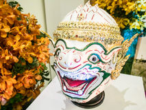 Hanuman nas orquídeas 2014 de Banguecoque do modelo Imagem de Stock Royalty Free