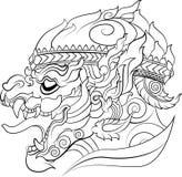 Hanuman new Thai art style vector Stock Photography