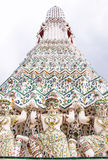 Hanuman pagoda base pattern in wat arun. Stock Image