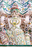 Hanuman pagoda base pattern in wat arun. Stock Photography
