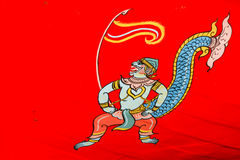 Hanuman painting of art thai style Stock Photo