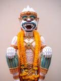 Hanuman statua z girlandy Thailand stylem Obrazy Stock