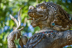 Hanuman statue. The ancient character of Ramayana is located in Temple Chiang Mai, Thailand royalty free stock images
