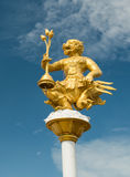 Hanuman statue on blue sky Royalty Free Stock Images