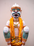 Hanuman statue with garland thailand style Stock Images