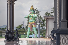 Hanuman Statue at Hindu Temple Stock Photo