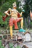 Hanuman-Statue an Kirateshwar-mahadev Tempel, Legship, West-Sikkim, Indien Lizenzfreies Stockbild