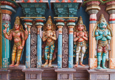 Hanuman statues in Hindu Temple Royalty Free Stock Image