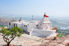 Hanuman Temple on the Anjenadri hill in Hampi stock image