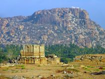 Hanuman Temple on the sacred Anjenadri hill in Hampi, Karnataka Stock Photos