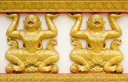 Hanuman wall art at public temple Stock Image