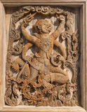 Hanuman Wood Carving Images libres de droits