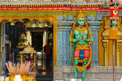 Hanuman's statue. Sri Krishnan Temple, Singapore Stock Photography