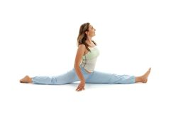 Hanumanasana monkey pose Royalty Free Stock Photo