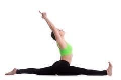 Hanumanasana yoga pose Stock Photography