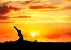 hanumanasanaapan poserar yoga Royaltyfri Fotografi