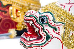 Hanumarn Hua Khon Thai Traditional Mask Fotos de archivo libres de regalías