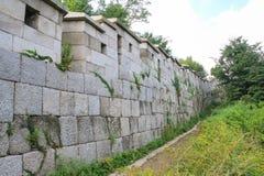 HanyangDoseong, τοίχος πόλεων της Σεούλ Στοκ Φωτογραφία