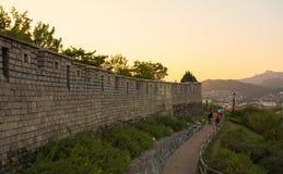 Hanyangdoseong, a fortress wall in Seoul city in Korea. Stock Photo
