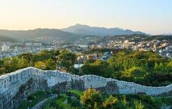 Hanyangdoseong, a fortress wall in Seoul city in Korea. Royalty Free Stock Photography