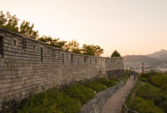Hanyangdoseong, a fortress wall in Seoul city in Korea. Stock Photos