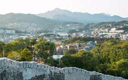 Hanyangdoseong, a fortress wall in Seoul city in Korea. Royalty Free Stock Images
