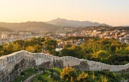 Hanyangdoseong, a fortress wall in Seoul city in Korea. Stock Image