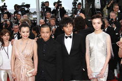 Hao Lei, director Ye Lou, actors Qi Xi and Qin Ha Stock Image