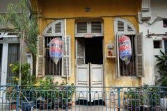 Hao Si Phuong Alley på Tran Hung Dao Street, område 5, Ho Chi Minh City arkivbild