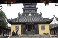 Haogu Tower and Memoria Hall to Wu Zhixu(Jiaxing,Zhejiang,China) Stock Photography