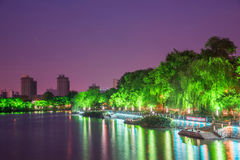 Haohe River at night Stock Image