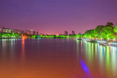 Haohe River at night Royalty Free Stock Photo