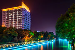 Haohe River at night royalty free stock photography