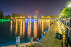 Haohe River at night Stock Photography