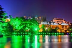 Haohe River at night royalty free stock image
