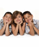 Haooy brothers and sister stock photo